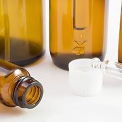 Small bottles of oil